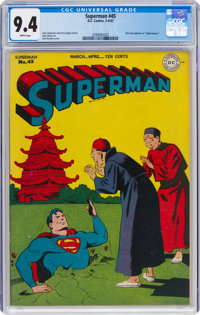 Superman #45 (DC, 1947) CGC NM 9.4 White pages