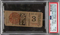 1910 World Series Game Five Ticket Stub--Philadelphia Athletics Clinch--Only Known Example!