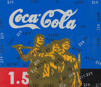 Wang Guangyi (b. 1957) Coca Cola, 2004 Acrylic on canvas 23-3/4 x 27-1/2 inches (60.3 x 69.9 cm)<
