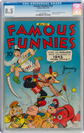 Golden Age (1938-1955):Humor, Famous Funnies #102 (Eastern Color, 1943) CGC VF+ 8.5 Crea...