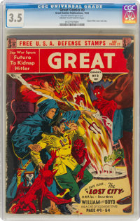Great Comics #3 (Great Comics Publications, 1942) CGC VG- 3.5 Cream to off-white pages
