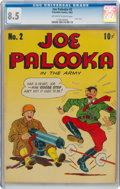 Golden Age (1938-1955):Humor, Joe Palooka #2 (Columbia, 1943) CGC VF+ 8.5 Off-white to white pages....