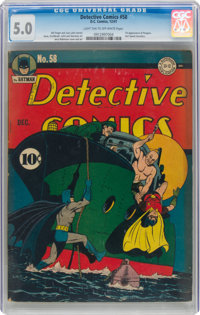 Detective Comics #58 (DC, 1941) CGC VG/FN 5.0 Light tan to off-white pages