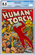 Golden Age (1938-1955):Superhero, The Human Torch #8 (Timely, 1942) CGC VF+ 8.5 Cream to off-white pages....