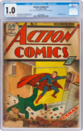Golden Age (1938-1955):Superhero, Action Comics #7 (DC, 1938) CGC FR 1.0 Cream to off-white pages....