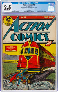 Action Comics #13 (DC, 1939) CGC GD+ 2.5 Slightly brittle pages