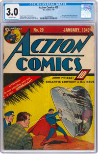 Action Comics #20 (DC, 1940) CGC GD/VG 3.0 Off-white pages