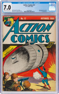 Golden Age (1938-1955):Superhero, Action Comics #17 (DC, 1939) CGC FN/VF 7.0 Cream to off-white pages....