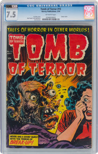 Tomb of Terror #15 (Harvey, 1954) CGC VF- 7.5 Off-white pages