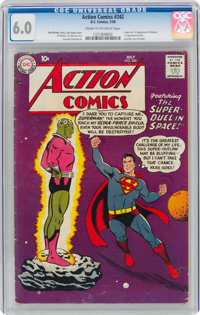 Action Comics #242 (DC, 1958) CGC FN 6.0 Cream to off-white pages