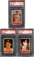Baseball Cards:Lots, 1960-1962 Bazooka Mickey Mantle (Singles) PSA Authentic Trio (3). ... (Total: 3 items)