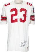 Football Collectibles:Uniforms, 1969 Johnny Roland Game Worn & Signed St. Louis Cardinals Jersey with NFL 50th Anniversary Patch....
