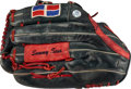 Baseball Collectibles:Others, 1990's Sammy Sosa Game Used & Signed Fielder's Glove with ...