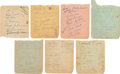 Hockey Collectibles:Others, 1930's-50's Boston Bruins & Others Signed Album Pages Lot of 7- Signed Twice by Eddie Shore....