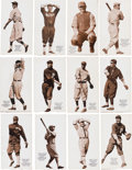 Baseball Cards:Sets, 1917 E137 Zeenut PCL Baseball Partial Set (55 Different). ...