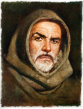 Original Comic Art:Paintings, Sanjulian (Manuel Perez Clemente) - Sean Connery from The Name of the Rose Painting Original Art (undated)....