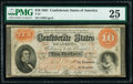 Confederate Notes:1861 Issues, T24 $10 1861 PF-7 Cr. 161 PMG Very Fine 25.. ...