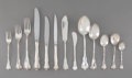Silver & Vertu, A Two Hundred and Fifty-Two-Piece Camusso Colonial Pattern Silver Flatware Service for Eighteen, Lima, Peru, 20t... (Total: 252 )