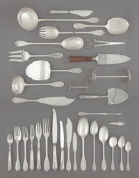 A Two Hundred Eighty-Seven-Piece Maison Cardeilhac Silver Flatware Service, Paris, late 19th century Marks to tall