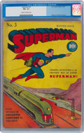 Golden Age (1938-1955):Superhero, Superman #3 (DC, 1940) CGC FN+ 6.5 Cream to off-white pages....