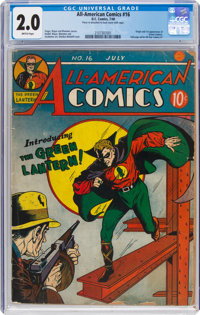 All-American Comics #16 (DC, 1940) CGC GD 2.0 Brittle pages