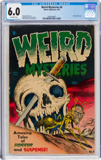 Weird Mysteries #4 (Gillmor, 1953) CGC FN 6.0 Off-white pages