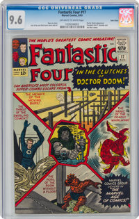 Fantastic Four #17 Twin Cities Pedigree (Marvel, 1963) CGC NM+ 9.6 Off-white to white pages