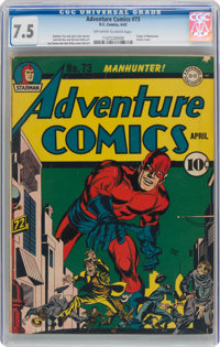 Adventure Comics #73 (DC, 1942) CGC VF- 7.5 Off-white to white pages