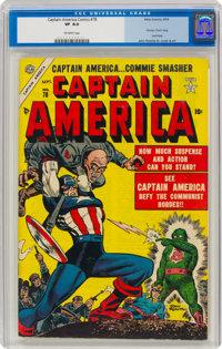 Captain America Comics #78 (Timely, 1954) CGC VF 8.0 Off-white pages
