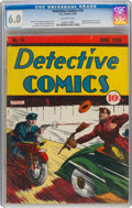 Golden Age (1938-1955):Adventure, Detective Comics #16 (DC, 1938) CGC FN 6.0 Off-white pages....