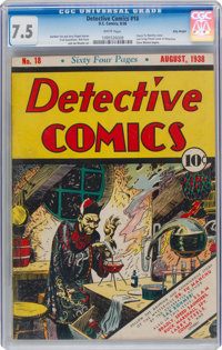 Detective Comics #18 Billy Wright Pedigree (DC, 1938) CGC VF- 7.5 White pages