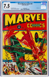 Marvel Mystery Comics #44 (Timely, 1943) CGC VF- 7.5 Off-white to white pages