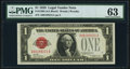 Small Size:Legal Tender Notes, Fr. 1500 $1 1928 Legal Tender Note. PMG Choice Uncirculated 63.. ...