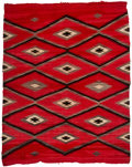 American Indian Art:Weavings, A Navajo Transitional Weaving...