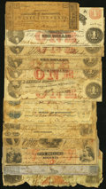 A Well Traveled Group of Primarily Southern State Obsolete Notes. ... (Total: 14 notes)