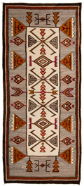 American Indian Art:Weavings, A Navajo Regional Runner...