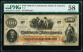 Confederate Notes:1862 Issues, T41 $100 1862 PF-6 Cr. 319 PMG Choice About Unc 58.. ...