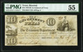 Houston, TX- Government of Texas $10 Nov. 1, 1838 Cr. H17 Medlar 60 PMG About Uncirculated 55