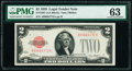 Fr. 1501 $2 1928 Legal Tender Note. PMG Choice Uncirculated 63