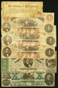A Half Dozen Obsolete Notes from Virginia. Good or Better. ... (Total: 6 notes)