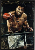 """Boxing Collectibles:Autographs, Circa 2000 Muhammad Ali """"AKA Cassius Clay"""" Signed Limited Edition Giclee by Stephen Holland. ..."""