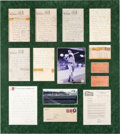 Baseball Collectibles:Others, 1940 Ted Williams Handwritten & Signed Letter Display with...
