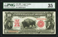 Large Size:Legal Tender Notes, Fr. 114 $10 1901 Legal Tender PMG Choice Very Fine 35.. ...