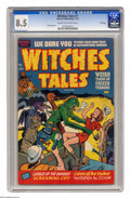 Golden Age (1938-1955):Horror, Witches Tales #7 File Copy (Harvey, 1952) CGC VF+ 8.5 Cream tooff-white pages. Bob Powell art. Only one copy of this issue ...