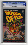 Golden Age (1938-1955):Horror, Worlds of Fear #3 Crowley pedigree (Fawcett, 1952) CGC VF/NM 9.0Off-white pages. We've mentioned elsewhere in this catalog ...