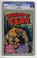 Golden Age (1938-1955):Horror, Worlds of Fear #6 Crowley pedigree (Fawcett, 1952) CGC NM- 9.2Off-white pages. A spelunker finds out how this title got its...
