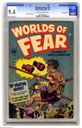 "Golden Age (1938-1955):Horror, Worlds of Fear #8 Crowley pedigree (Fawcett, 1953) CGC NM 9.4Off-white to white pages. A decade before the ""Phantom Punch"" ..."