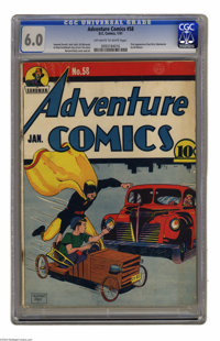 Adventure Comics #58 (DC, 1941) CGC FN 6.0 Off-white to white pages. Soapbox racing in the urban jungle? Good thing Hour...