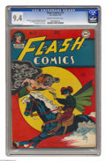 Golden Age (1938-1955):Superhero, Flash Comics #73 (DC, 1946) CGC NM 9.4 Cream to off-white pages. Joe Kubert was but a teenager when this book came out, but ...