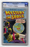 Golden Age (1938-1955):Science Fiction, Mystery in Space #13 (DC, 1953) CGC NM- 9.2 Off-white to whitepages. If you need to ask Martians for some help, you're in p...